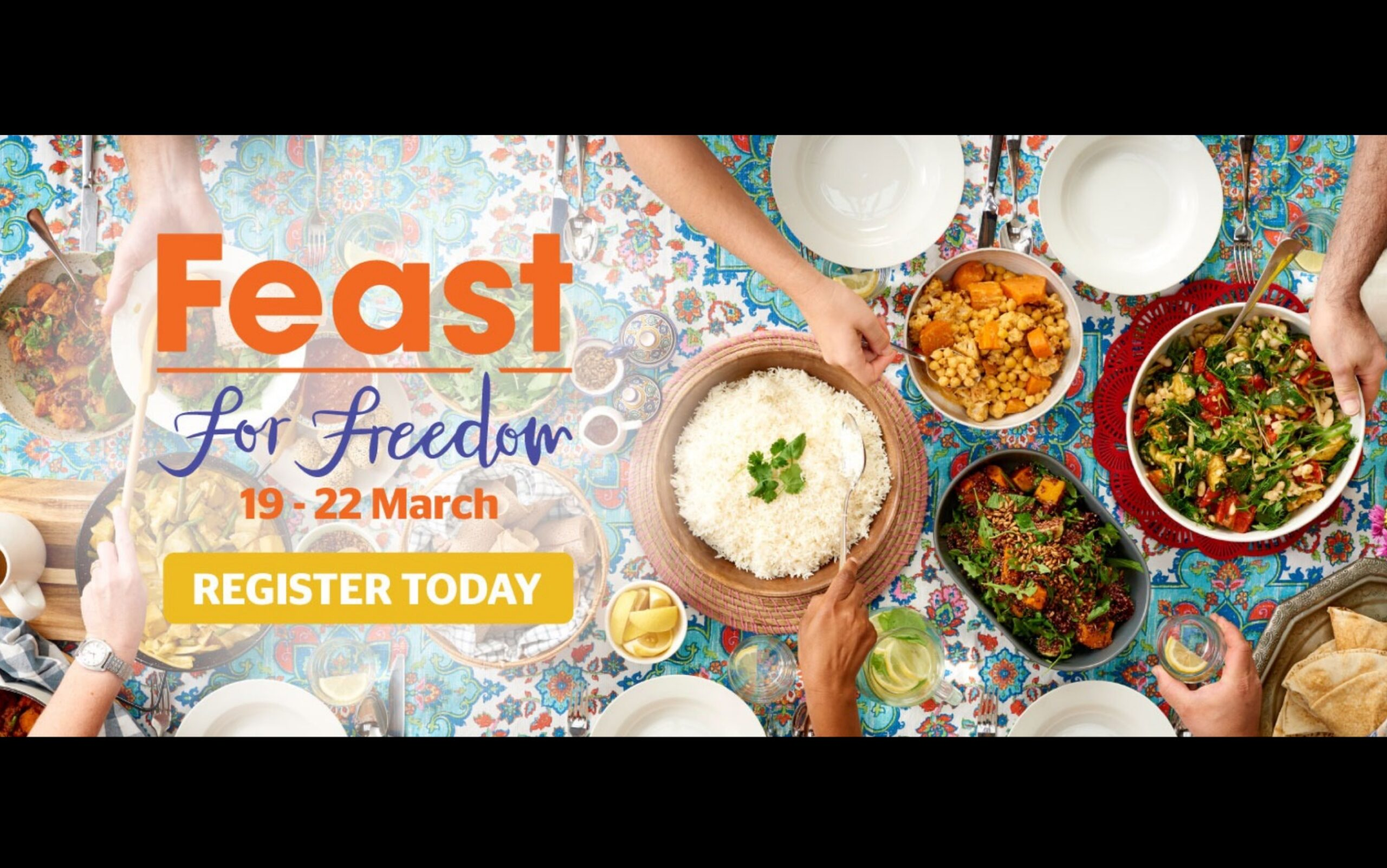 Register now to host your own Feast for Freedom this March: raising money for the ASRC (Asylum Seeker Resource Centre)